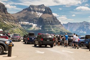 Parking at Logan Pass in Glacier National Park (NPS, Jacob W. Frank)