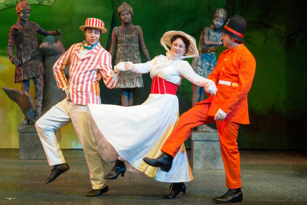 """The cast of """"Mary Poppins"""" perform at the Missoula Community Theatre. (Megan Brown)"""