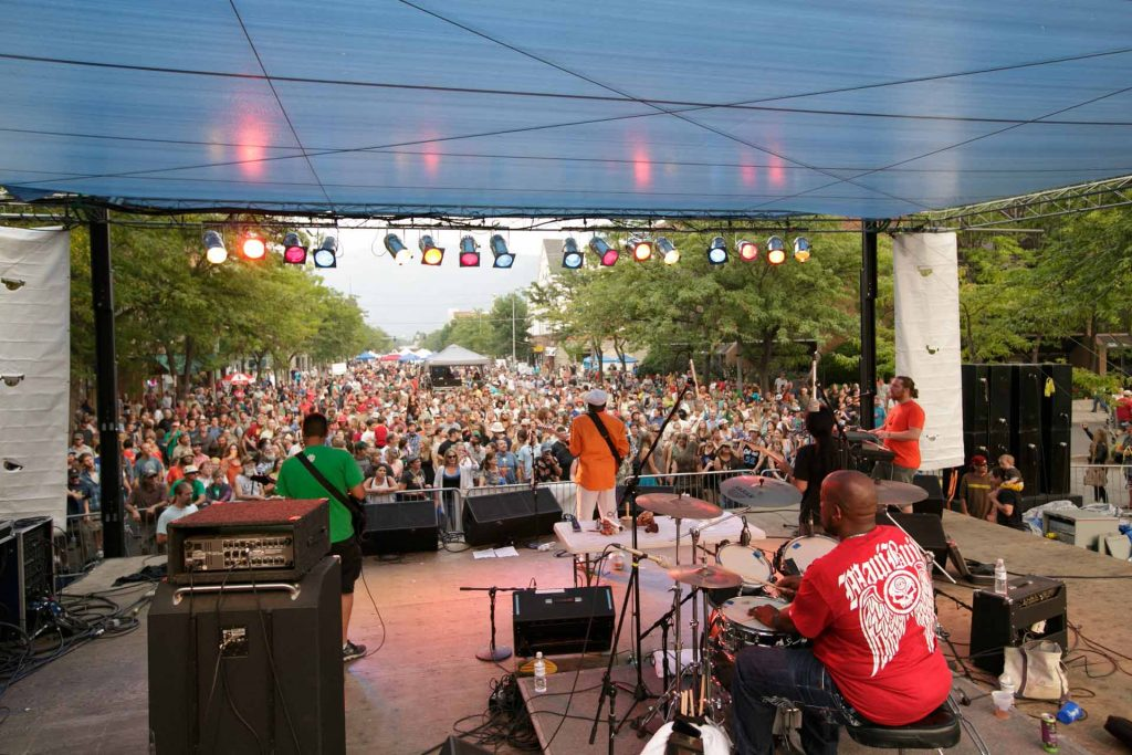 Clinton Fearon and the Boogie Brown Band at River City Roots Festival in downtown Missoula. (Athena Lonsdale, Missoula Downtown Association)