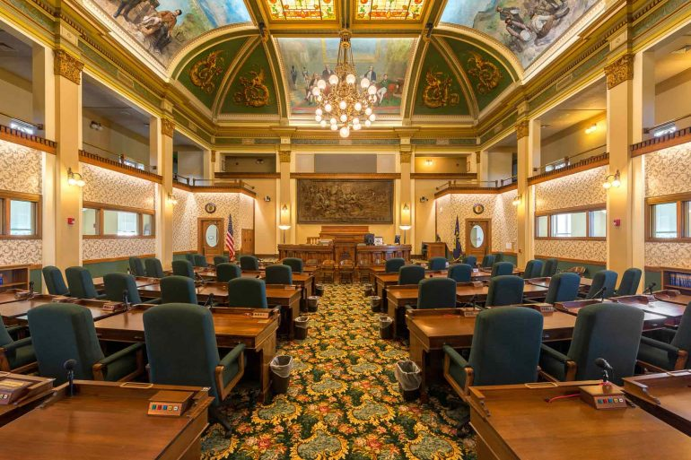 The Montana Senate chamber in Helena. (Nagel Photography)