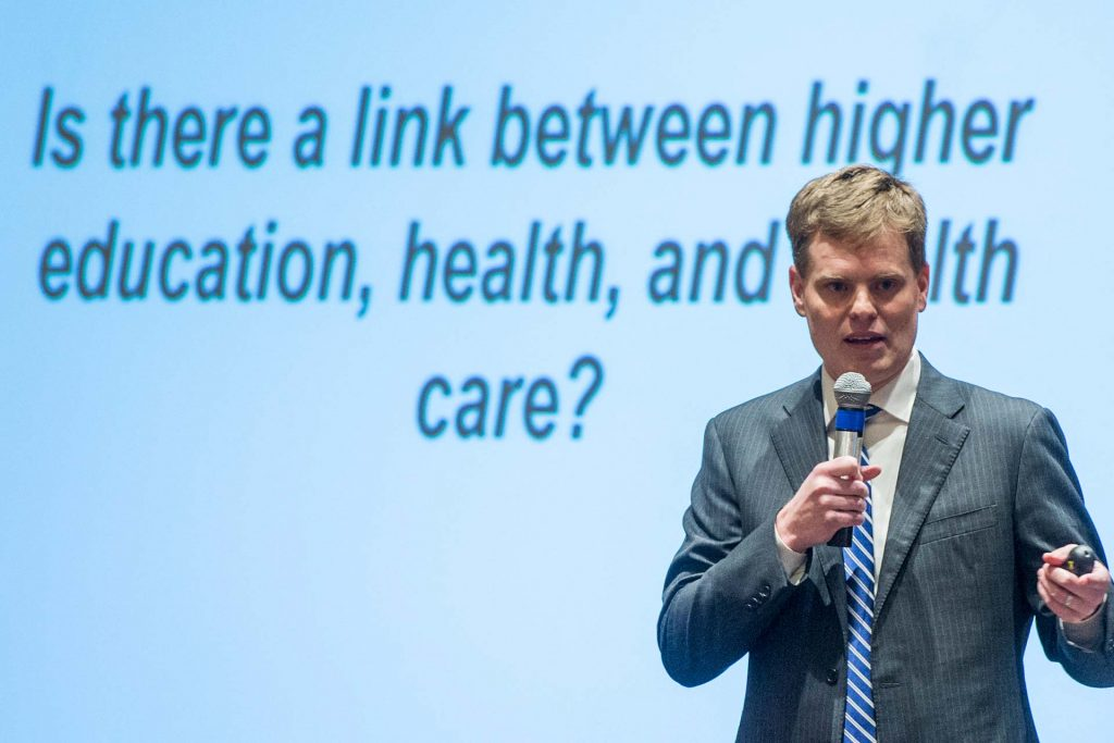 Bryce Ward speaks at the 2018 Economic Outlook Seminar in Missoula. (Todd Goodrich)