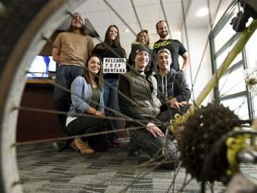 Employees of San Francisco-based fitness technology company ClassPass in their Missoula office. (Tom Bauer, Missoulian)