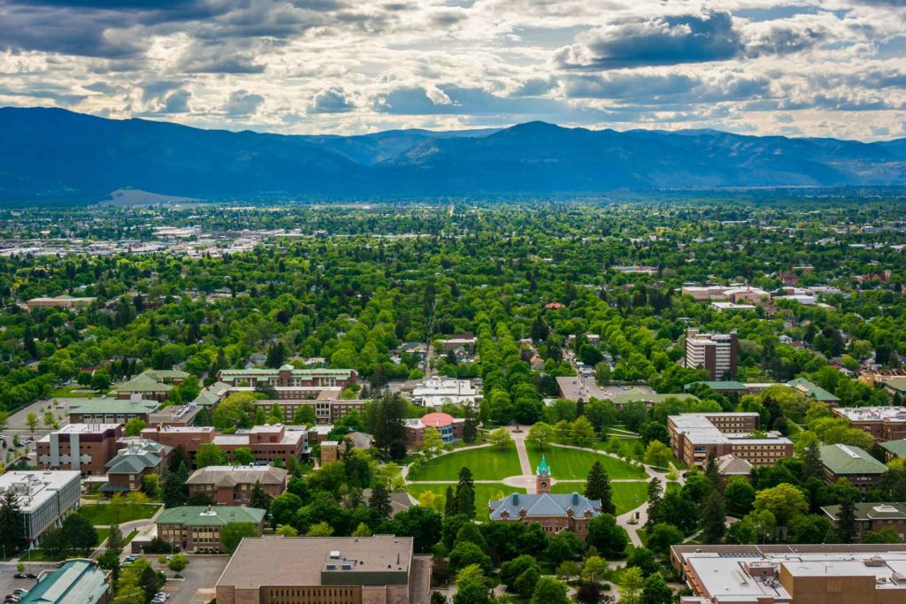 View of Missoula and the University of Montana from Mount Sentinel. (Jon Bilous)