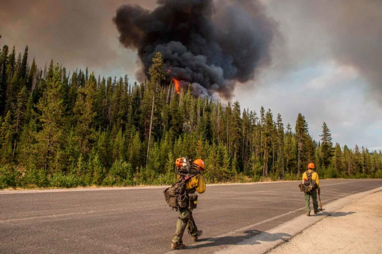 Smoke billows from a prescribed burn as part of a 125-square-mile restoration project on the Payette National Forest near McCall, Idaho. (USFS, AP Photo)