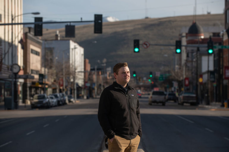 Ryan Hansen, the founder of Lumenad in Missoula, where his software company is based. (Lido Vizzutti)