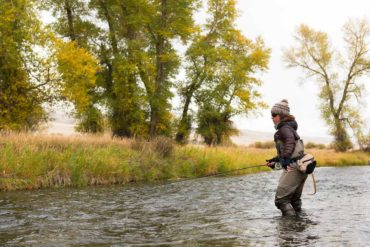 Erin McCleary fishes a small stream near Butte, Montana. (Bozeman Daily Chronicle)